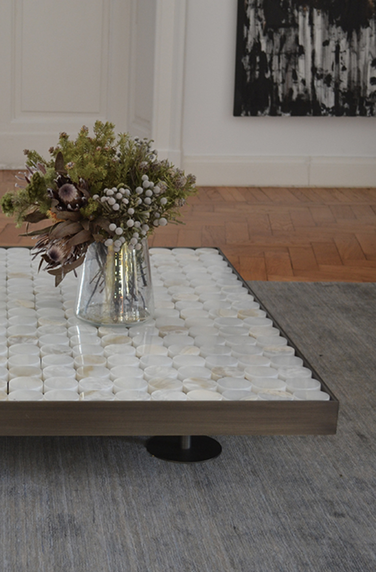 MG12 Living roomSide tables & trays Marble White