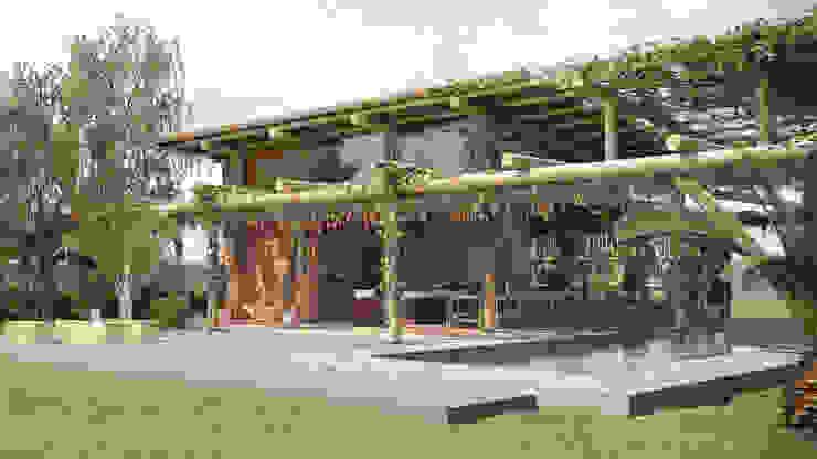 Rustikale Häuser von studiojordanovalota Rustikal Holz Holznachbildung