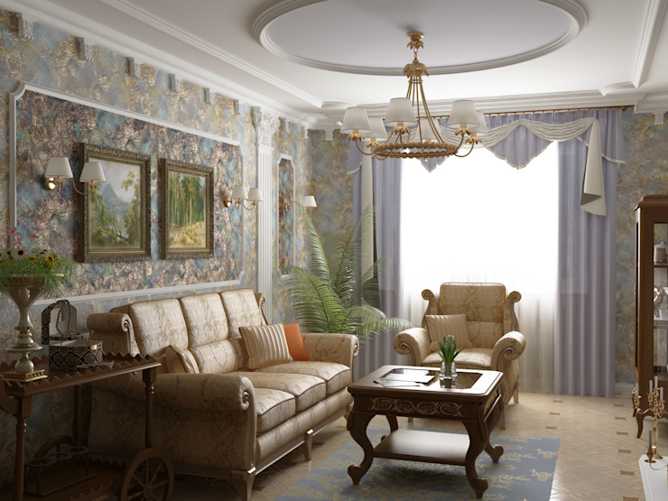 Living room by homify,