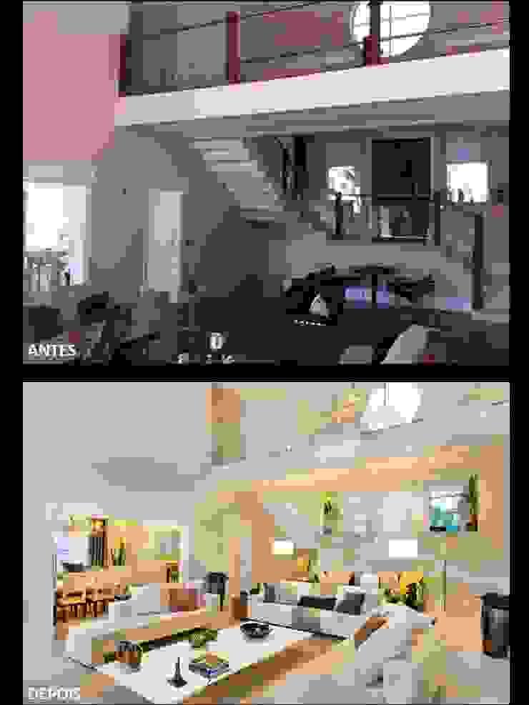 Sala por Quitete&Faria Arquitetura e Decoração