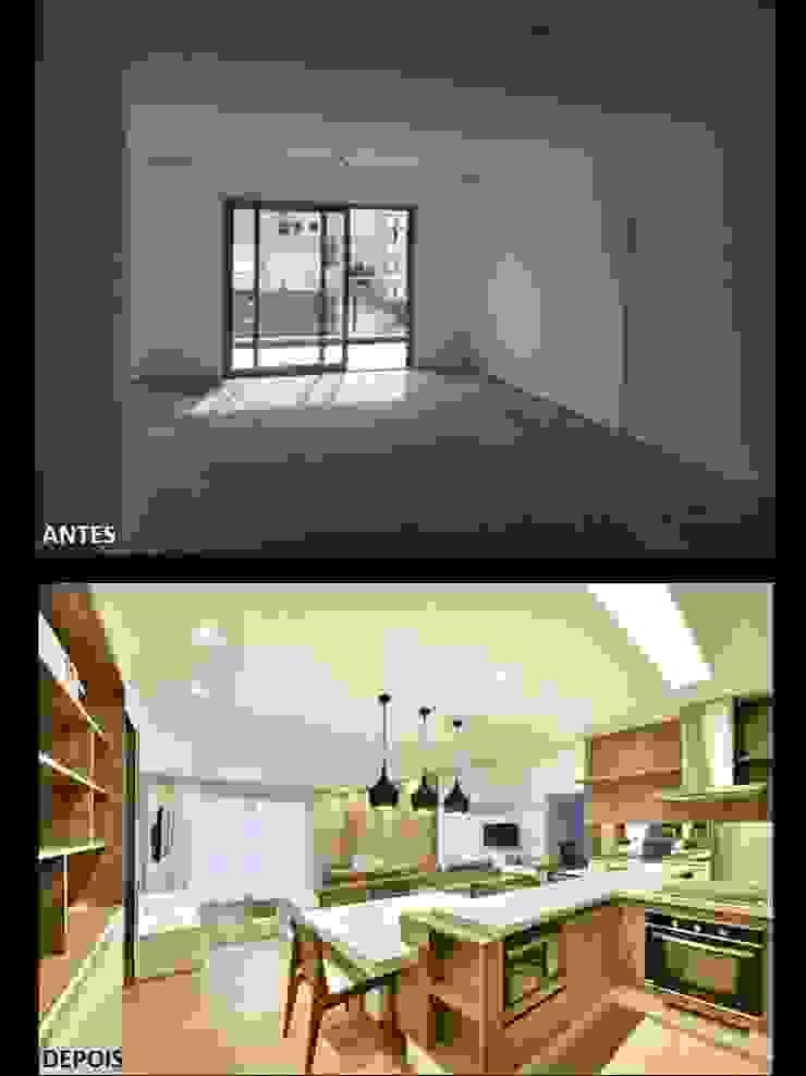 Apartamento 1 por Quitete&Faria Arquitetura e Decoração