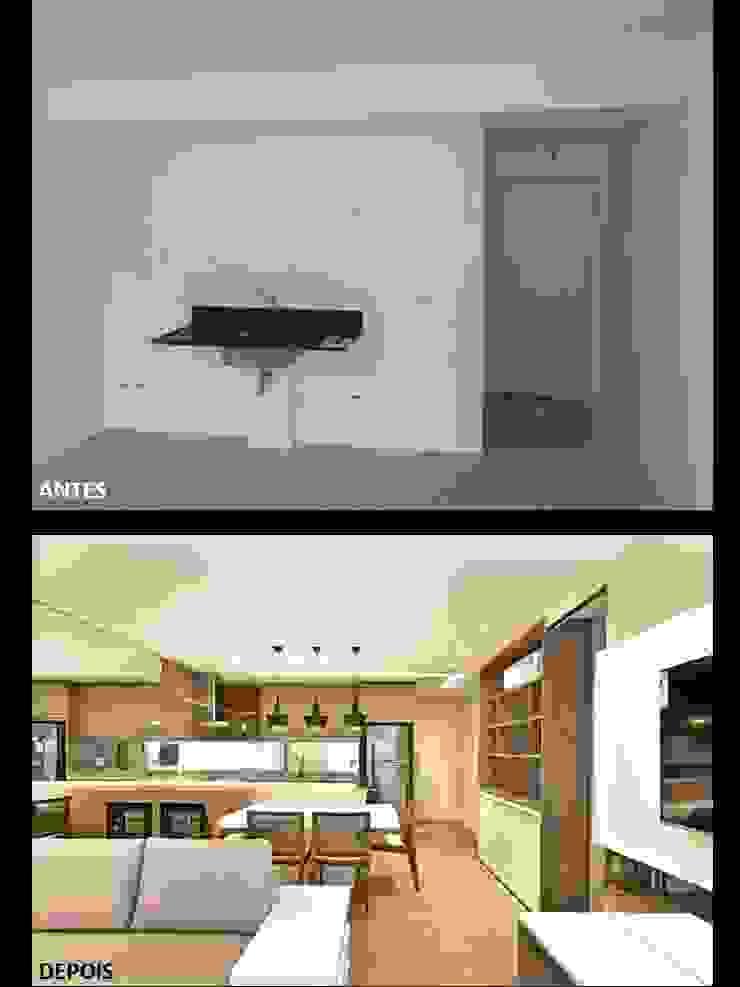 Apartamento 2 por Quitete&Faria Arquitetura e Decoração