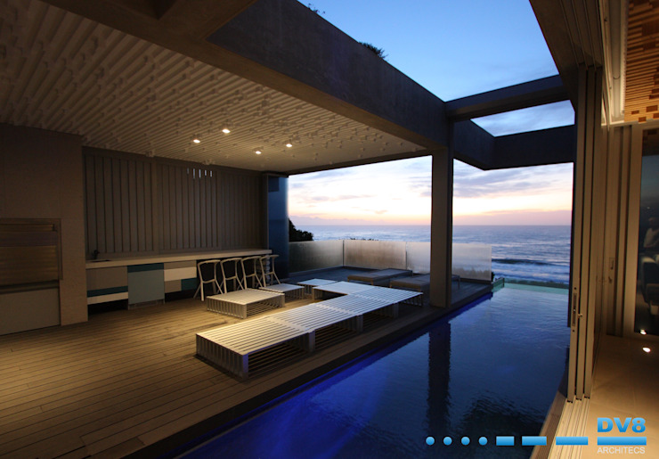 Plettenberg Bay - Beach House:  Pool by DV8 Architects,