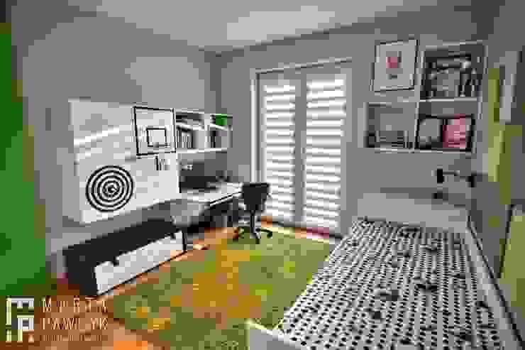 Детская комната в стиле модерн от MARTA PAWLAK ARCHITEKTURA WNĘTRZ Модерн