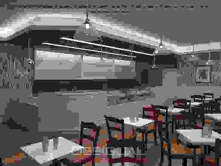 Projeto 3D_Cafetaria por Desigual - Arquitectura de Interiores, Lda