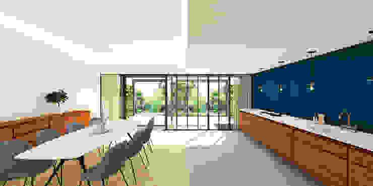 woonkeuken De Nieuwe Context Moderne keukens Hout Wit