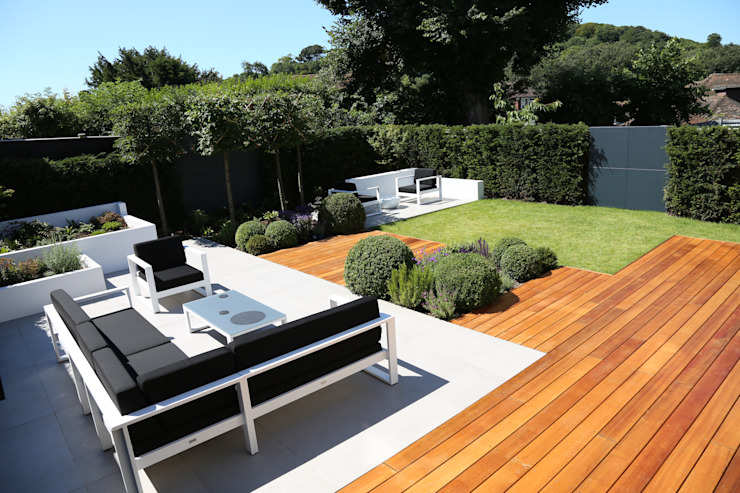 Outdoor Room Jardin moderne par Borrowed Space Moderne