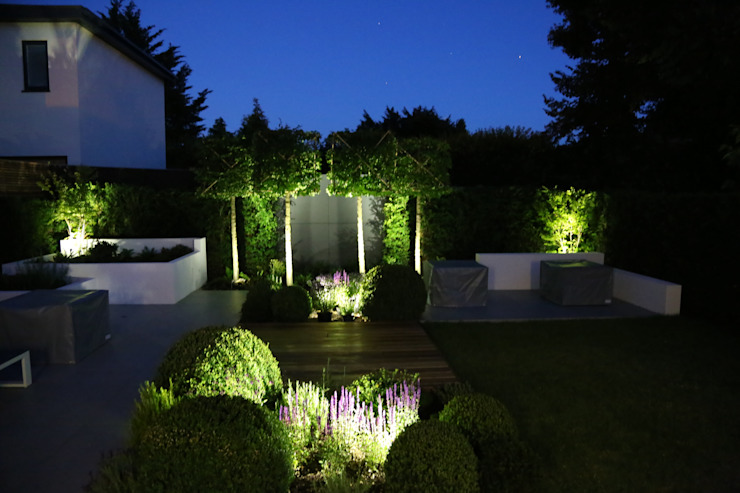 Lighting Jardines de estilo moderno de Borrowed Space Moderno
