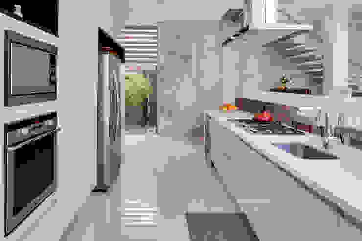 Arqbox Modern kitchen Concrete White