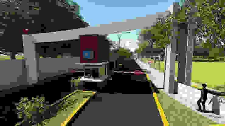 Arco de accseso de iA Soluciones de Ingeniería y Aquitectura