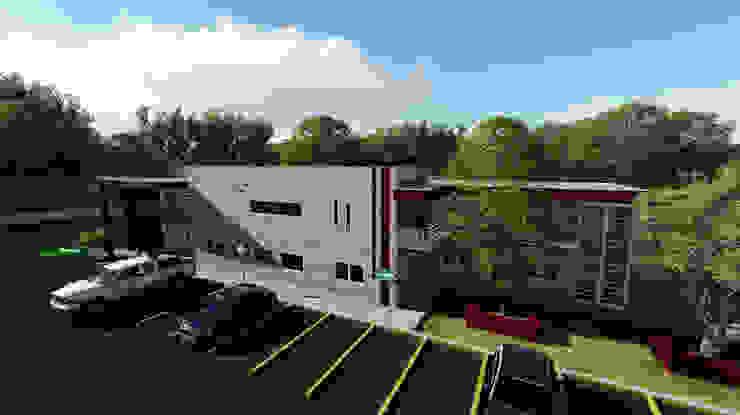 Oficinas y estacionamiento de iA Soluciones de Ingeniería y Aquitectura