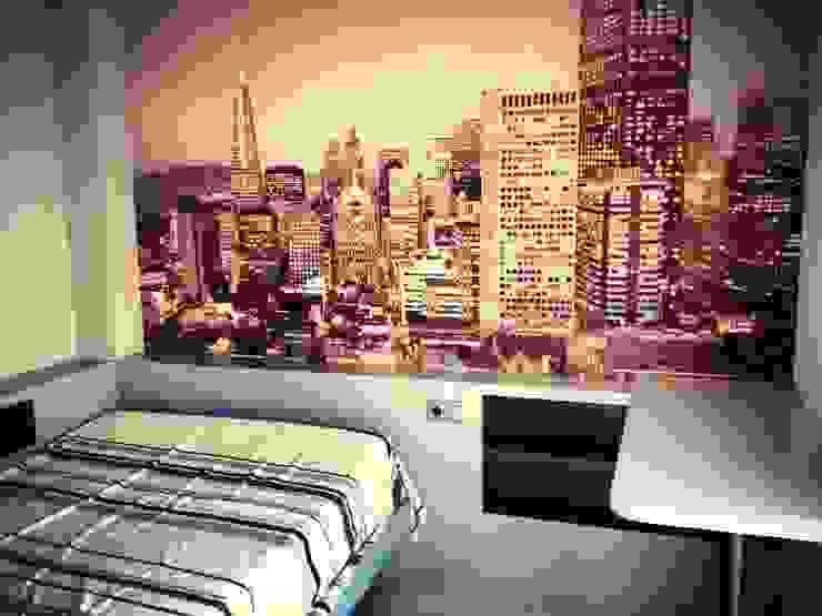 Cabecero repisa dormitorio moderno de Archimobel Moderno Tablero DM