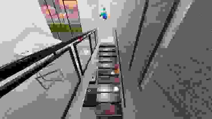 Escaleras a azotea de iA Soluciones de Ingeniería y Aquitectura