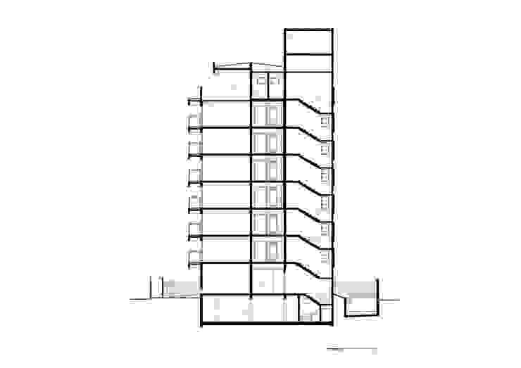 Corte Transversal por Arqbox Moderno