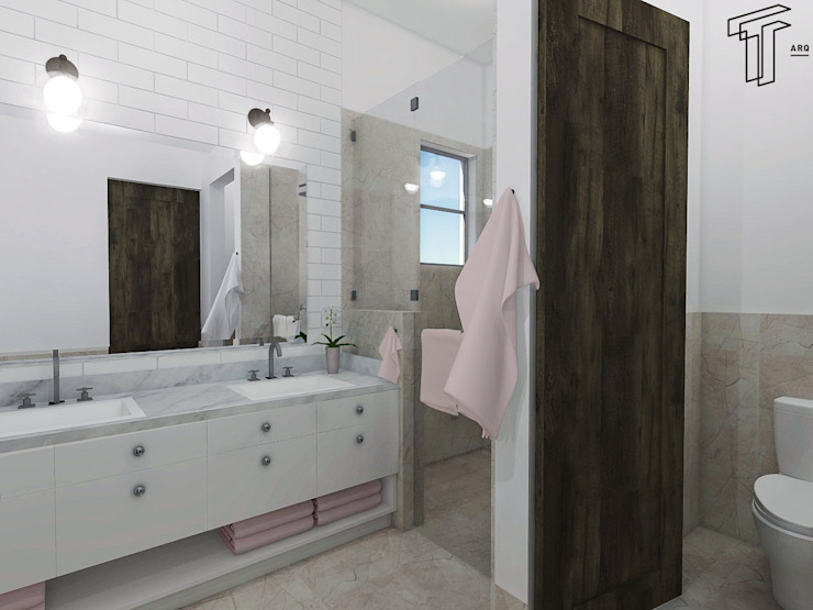 Modern style bathrooms by TAMEN arquitectura Modern