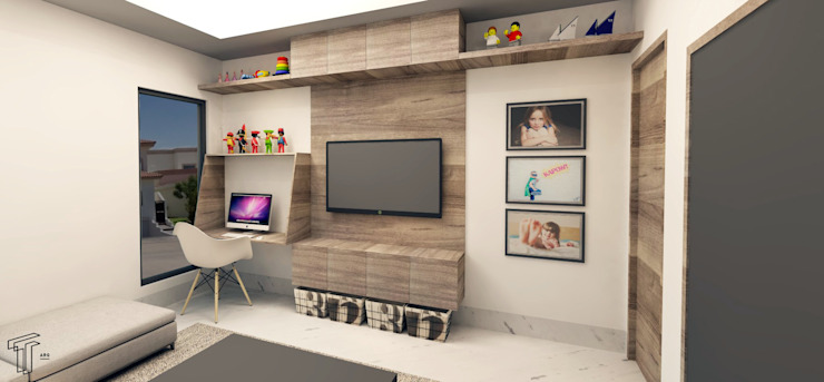 Modern media room by TAMEN arquitectura Modern