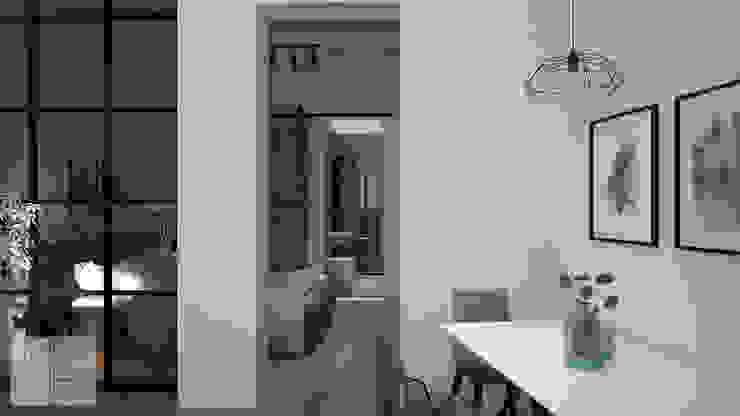 Apartment Renovation by Bledi Skora Design Scandinavian Wood Wood effect