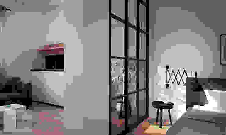 Apartment Renovation Scandinavian style bedroom by Bledi Skora Design Scandinavian Wood Wood effect