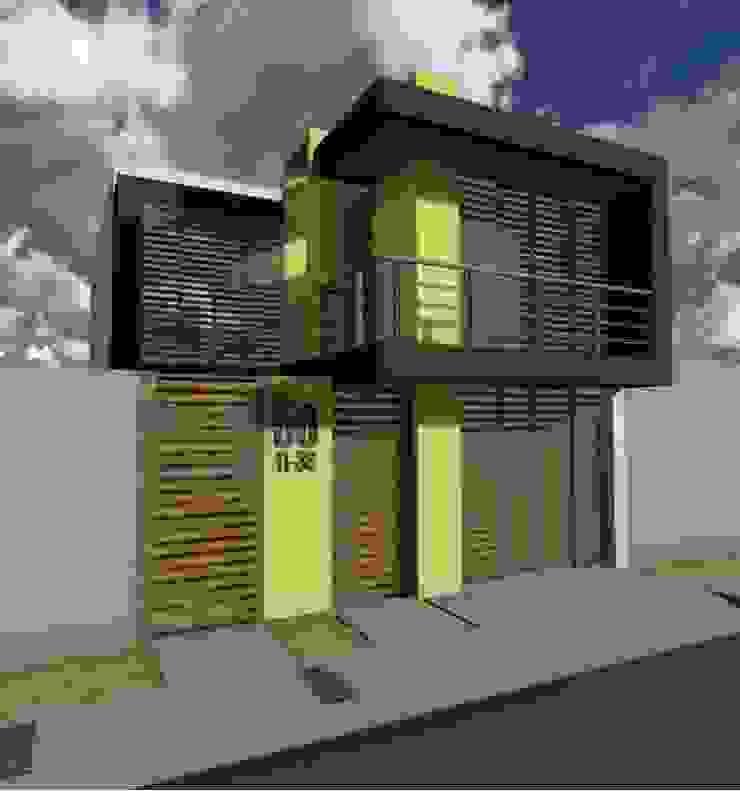 Casa Flor Amarillo Casas de estilo minimalista de ARQUITECTO JUAN ANDRES GUTIERREZ PEREZ Minimalista