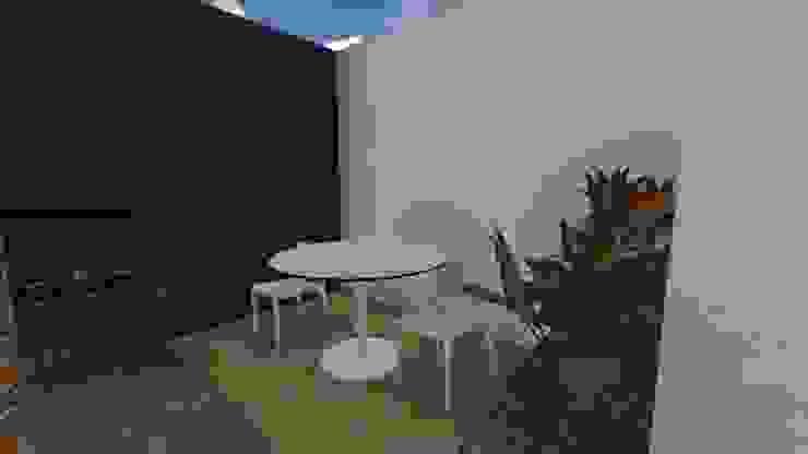 Casa Flor Amarillo Jardines de estilo minimalista de ARQUITECTO JUAN ANDRES GUTIERREZ PEREZ Minimalista