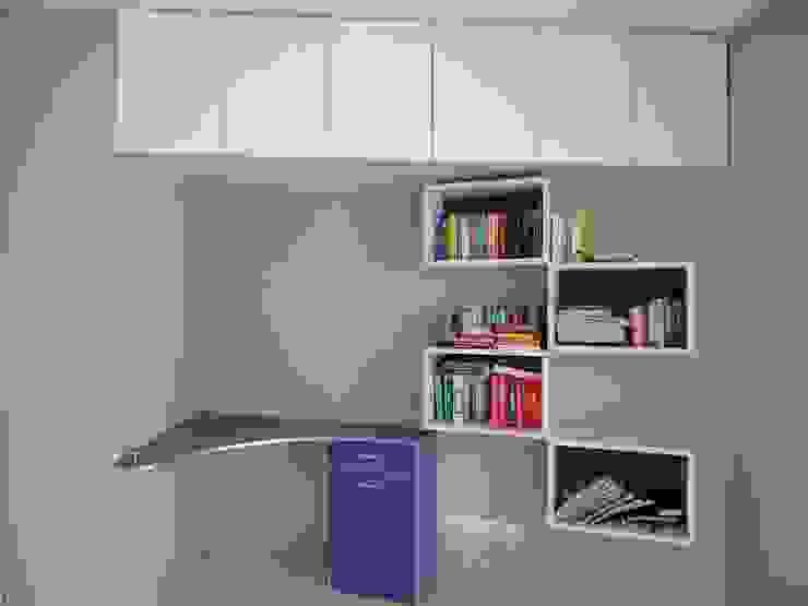 Study Unit Modern Study Room and Home Office by Nandita Manwani Modern