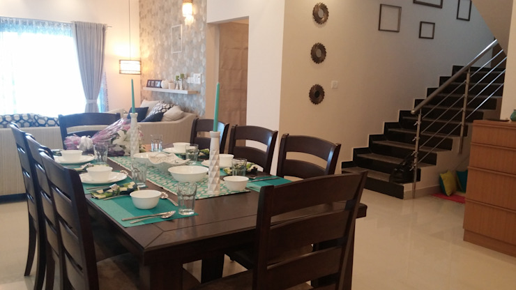 Dining room by Nandita Manwani, Modern