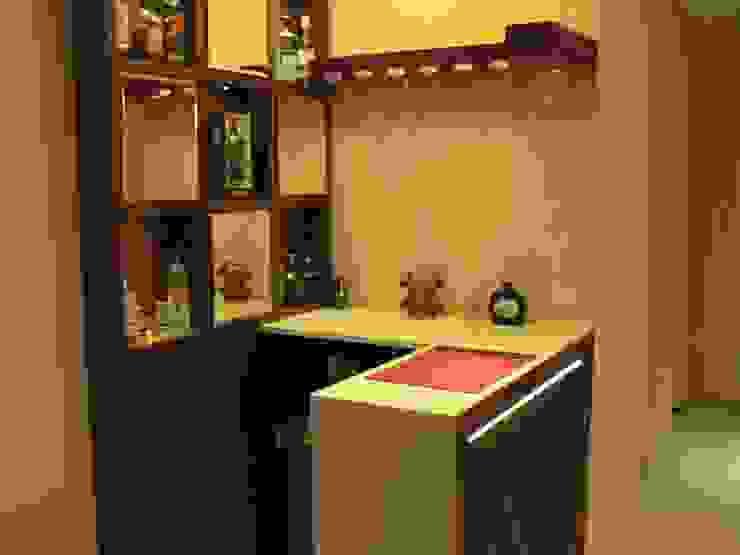 Bar Unit Modern Home Wine Cellar by Nandita Manwani Modern