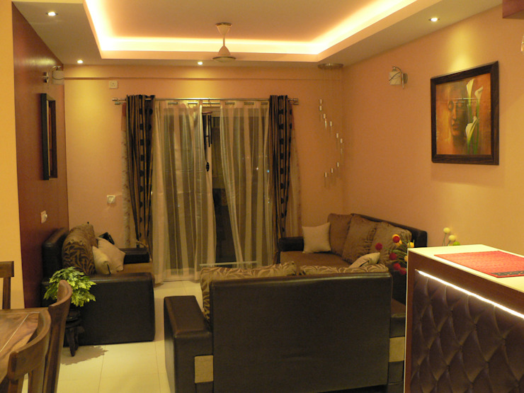 Salas de estilo  por Nandita Manwani, Moderno