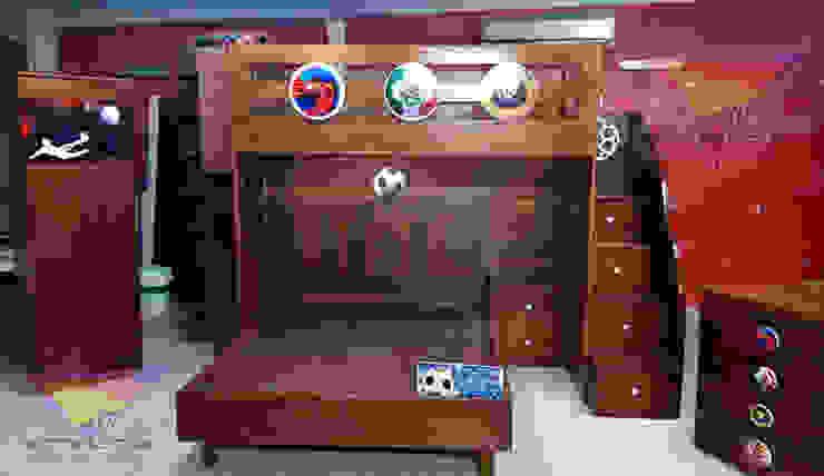 Litera juvenil de Futboll de camas y literas infantiles kids world Clásico Derivados de madera Transparente