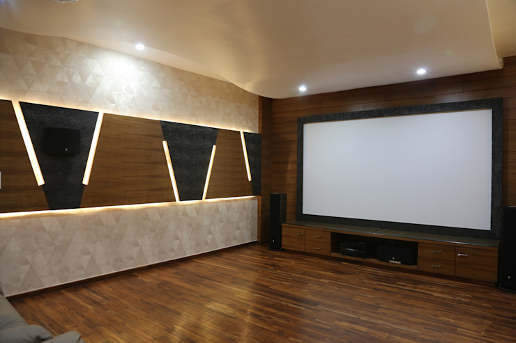 home theatre Modern media room by Hasta architects Modern