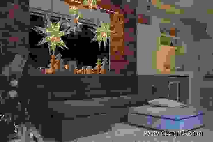 Salas / recibidores de estilo  por студия Design3F,