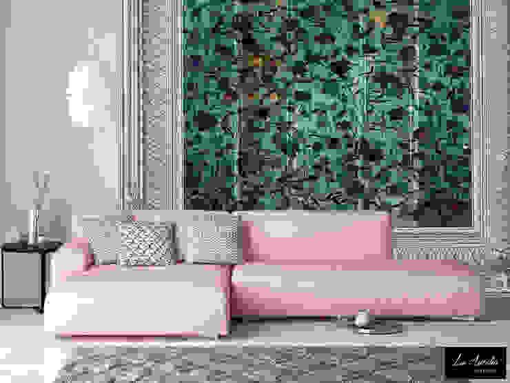 Summer Joy -Variation Framed- Wallpaper La Aurelia 壁&床壁紙 緑