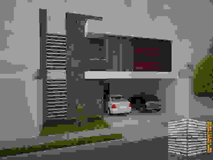 FACHADA CON BALCÓN LATERAL Casas de estilo minimalista de homify Minimalista