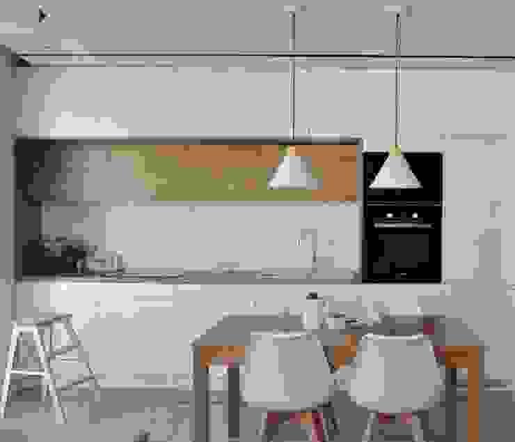 Кухня в скандинавском стиле от Architekt wnętrz Klaudia Pniak Скандинавский