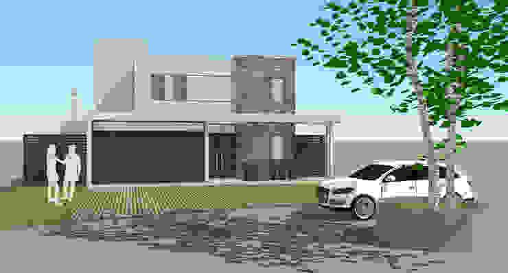 Fachada Casas modernas de Raizar Arquitectura y Paisajismo Moderno Derivados de madera Transparente