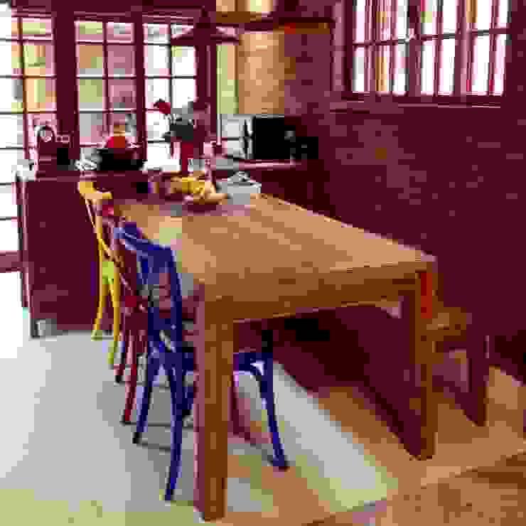Casa Veloso Salas de jantar ecléticas por TR3NA Arquitetura Eclético