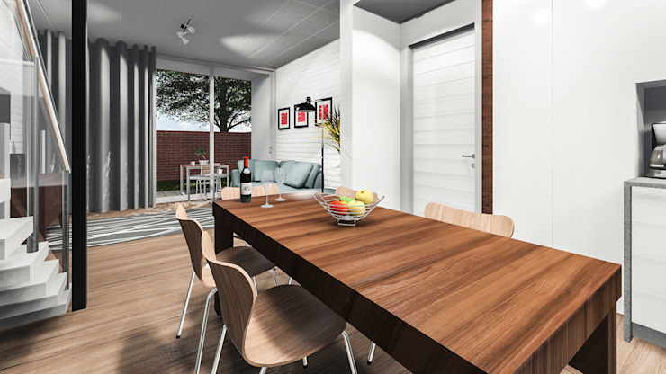 Modern dining room by Swart & Associates Architects Modern