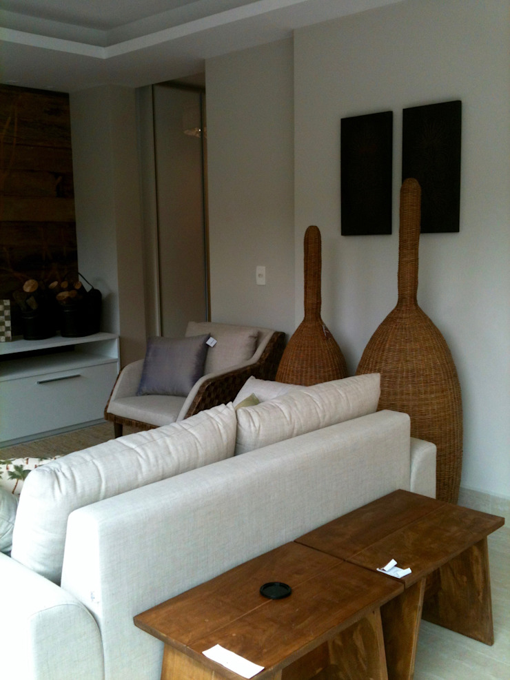 Apartamento Chácara Klabin Salas de estar rústicas por TR3NA Arquitetura Rústico