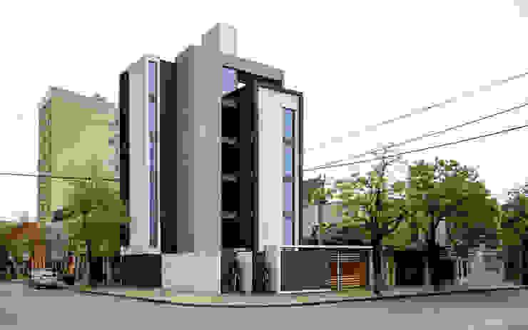 EDIFICIO DE OFICINAS Estudios y oficinas modernos de D'ODORICO arquitectura Moderno