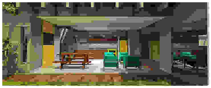 Shiota Arquitetura Modern garage/shed Wood