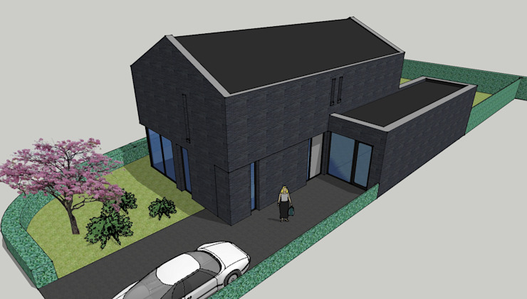 Impressie voorzijde van LAB_A architectuur