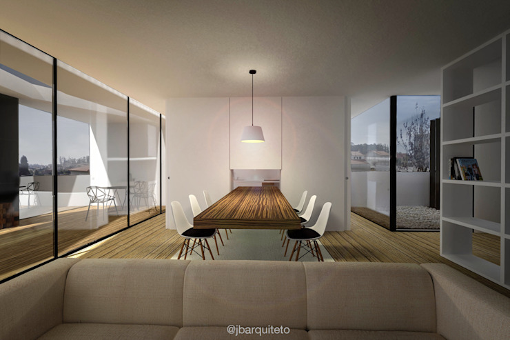 Casa L20 Salas de jantar modernas por jbarquiteto Moderno
