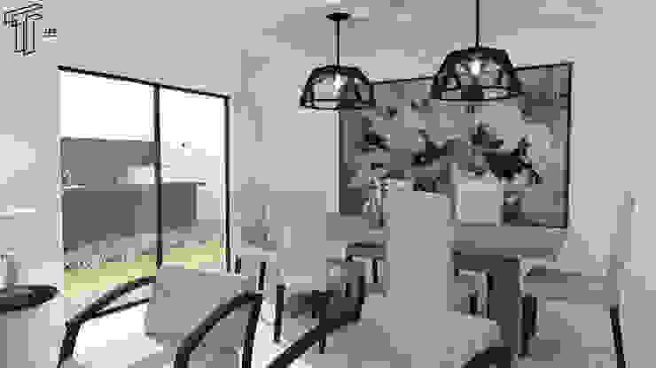 LG Modern Dining Room by TAMEN arquitectura Modern