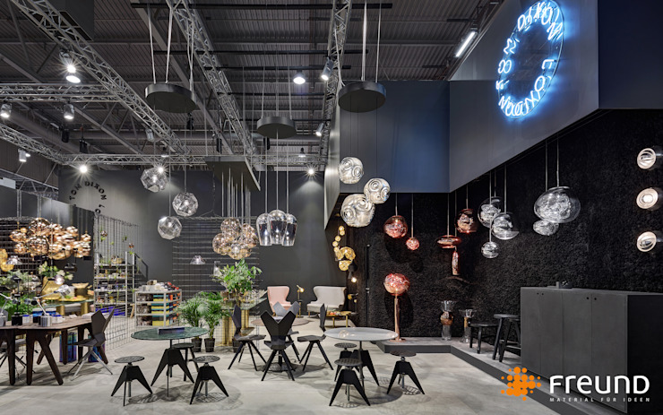 Freund GmbH Paredes y pisosDecoración de paredes Negro