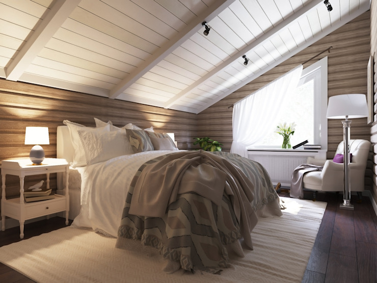 Country style bedroom by homify Country Wood Wood effect