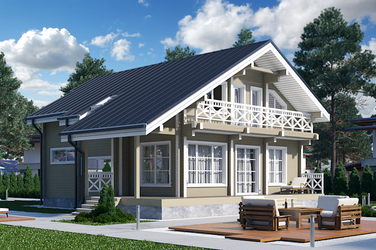 homify Classic style houses Wood Beige