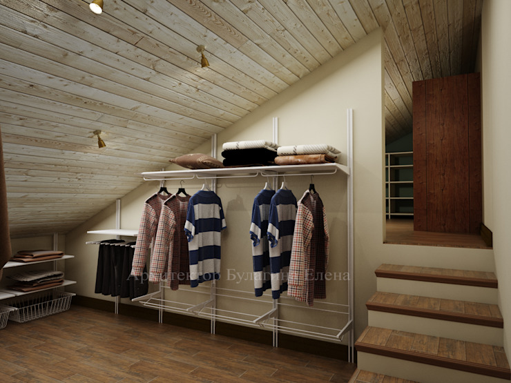 Country style dressing room by Архитектурное Бюро 'Капитель' Country