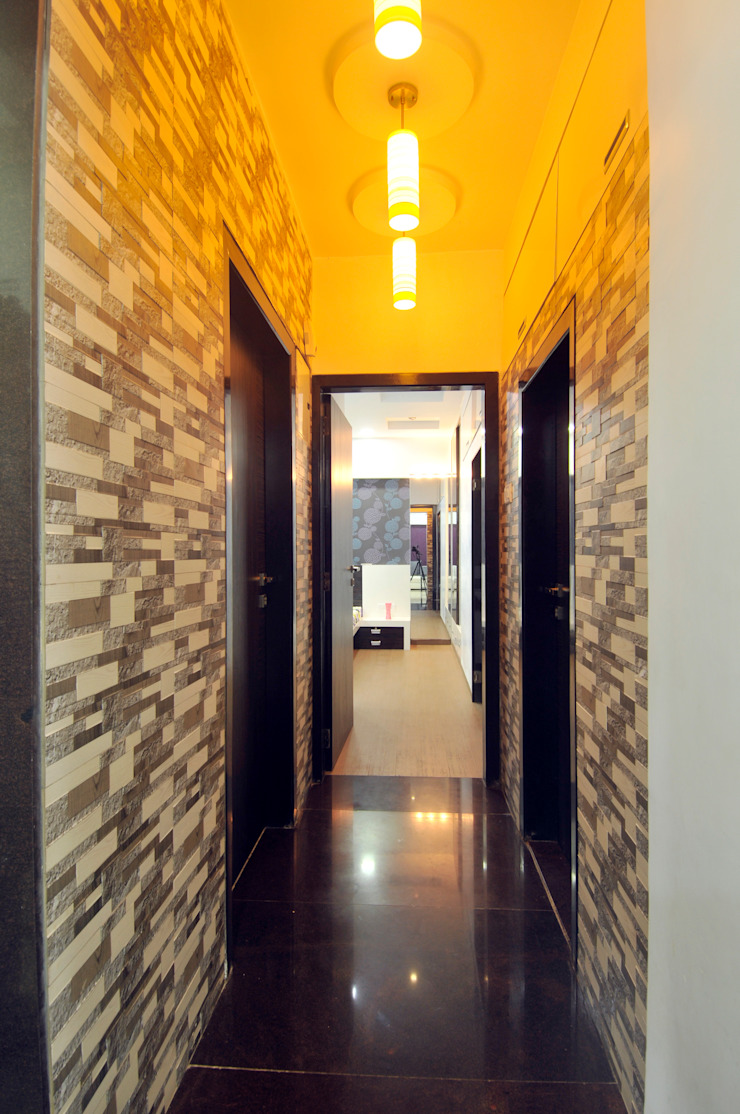 spacefusion Corridor, hallway & stairsLighting Tiles Multicolored