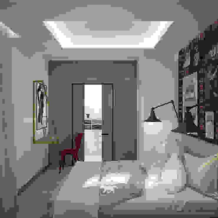 Eklektik Yatak Odası BLUETARPAN Eklektik Orta Yoğunlukta Lifli Levha