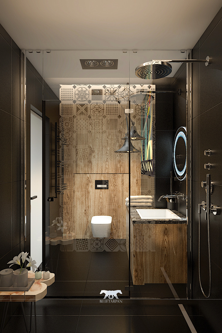 Bathroom Eclectic style bathroom by BLUETARPAN Eclectic Wood Wood effect